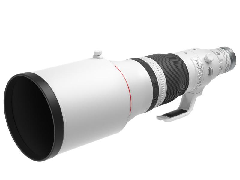 Canon lanza tres innovadores lentes para fotógrafos profesionales - rf600mm-f4-l-is-usm-front-slant-with-hood