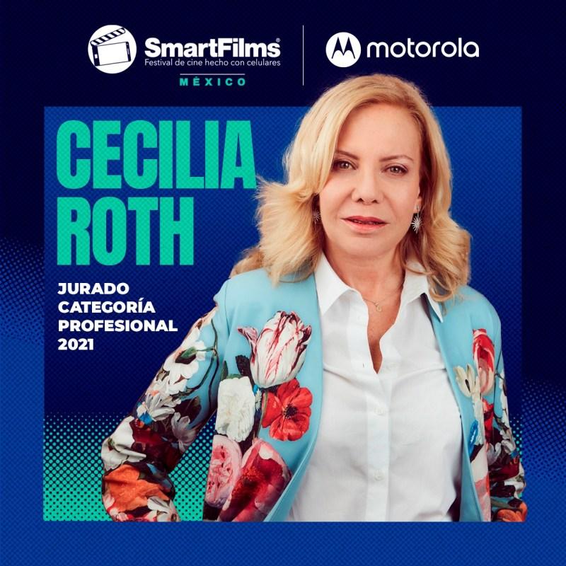 SmartFilms México y Motorola revelan a los miembros que conforman su Jurado 2021 - cecilia-roth-jurado-smartfilms-mexico-2021-1280x1280