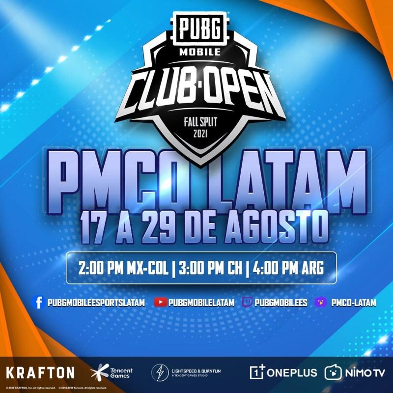 Inicia PUBG MOBILE Club Open (PMCO) Fall Split 2021