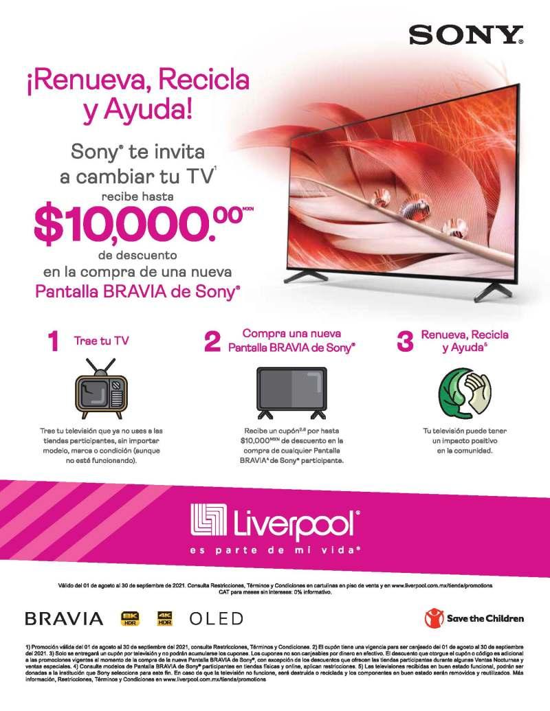 Sony México te invita a cambiar tu TV y a cambio, recibe un cupón de hasta $10,000 pesos - sony-cambiar-de-tv-989x1280
