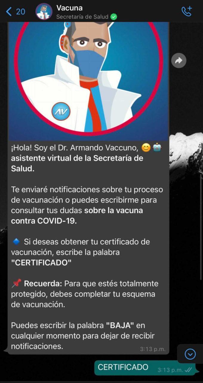 Ahora podrás descargar tu certificado de vacunación COVID-19 por WhatsApp - certificado-de-vacunacion-covid-19-whatsapp-680x1280