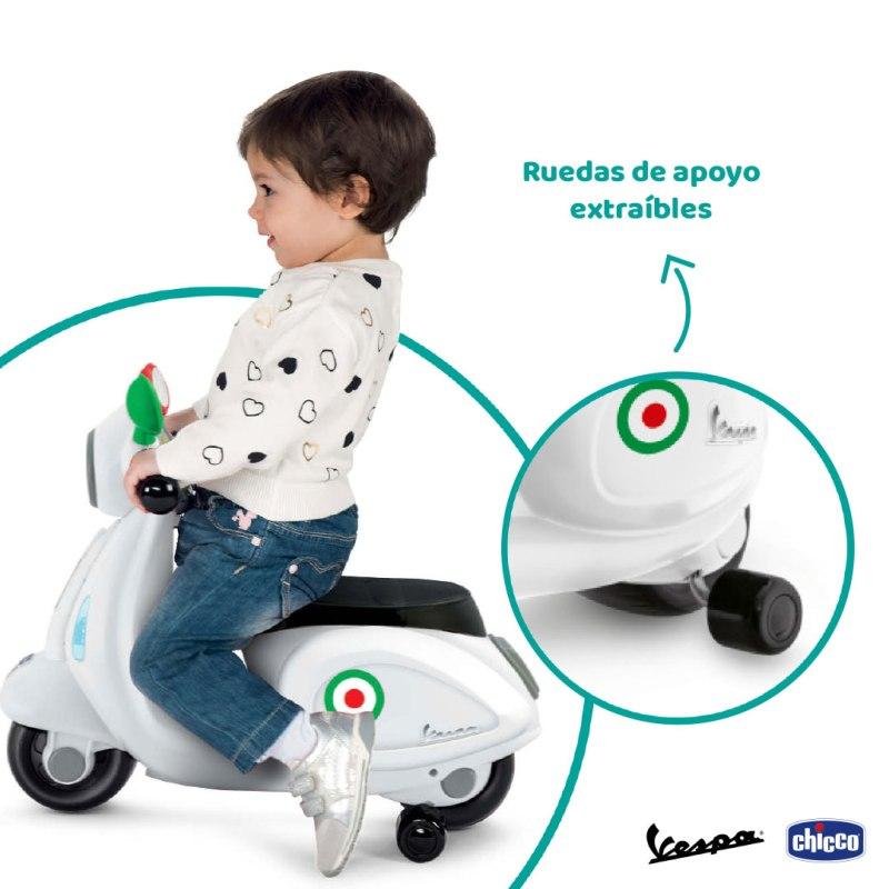 Vespa de Chicco, una motocicleta con la que los niños vivirán aventuras mientras estimulan su desarrollo motriz - montable-movegrow-vespa-chicco-juguete
