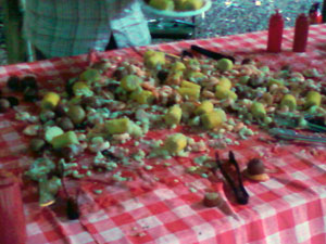 Low Country Boil at charity event for free2play at Miracle Park