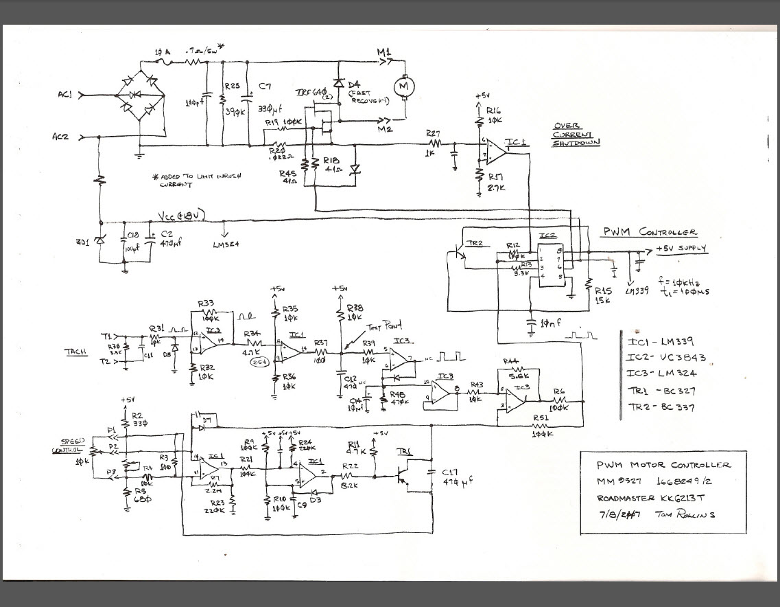 treadmill wiring diagram mr heater thermostat motor controller circuit impremedia