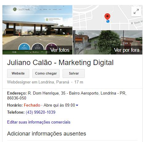 Google Meu Negocio, SEO em Londrina