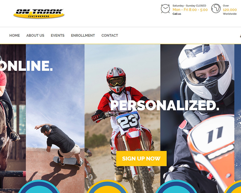 On Track School website by Web & Vincent