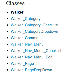 How to create simple Walker_Category for WordPress website