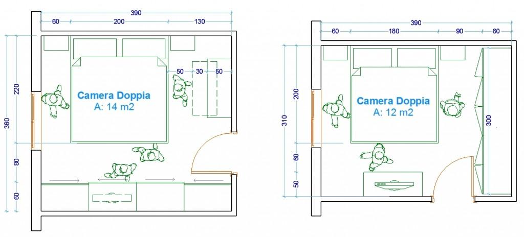 Le misure delluomo nellabitazione  la camera da letto  Web ARCHITETTO