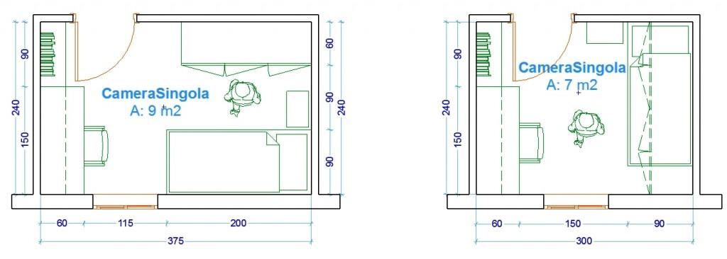 Offerte camere da letto a prezzi scontati. Le Misure Dell Uomo Nell Abitazione La Camera Da Letto Web Architetto