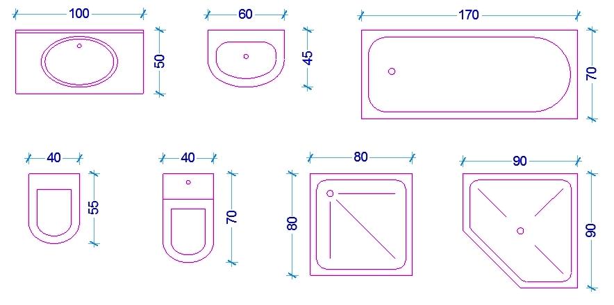 Le misure delluomo nellabitazione Il bagno  Web ARCHITETTO