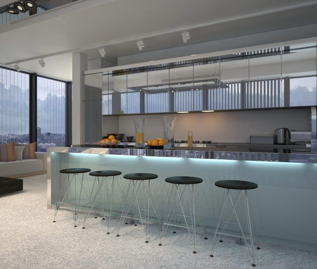 Built In Bars In A Kitchen
