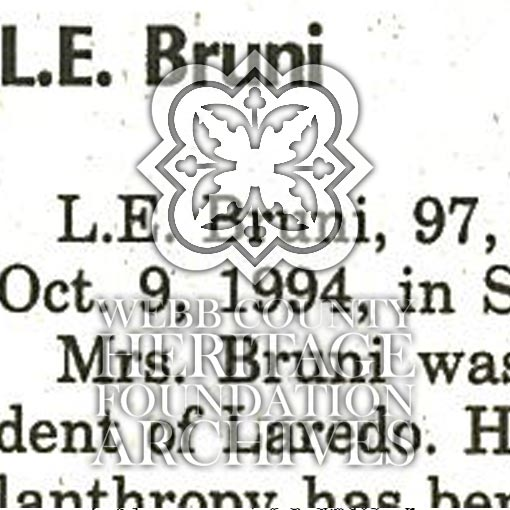 Bruni L.E. Obituary