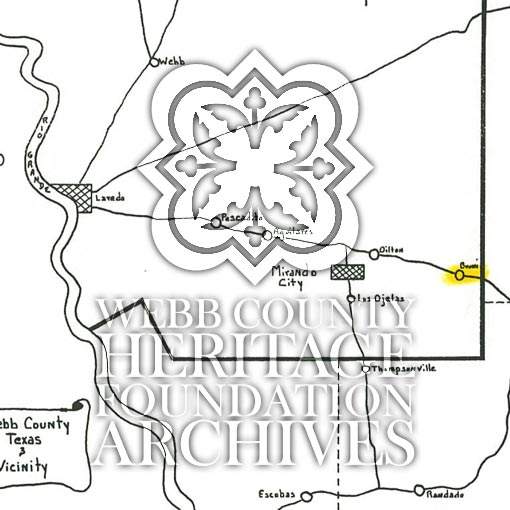 Map scan of Bruni Texas
