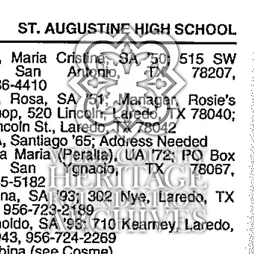 Catholic School Alumni Directory Scan