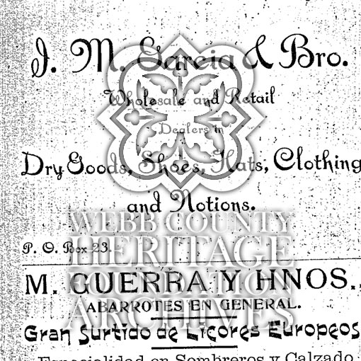 Scan of the Laredo City Directory from 1900
