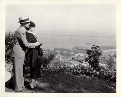 William Powell and Myrna Loy on Telegraph Hill; Source: SF Historical Photograph Collection, SF History Center, SF Public Library