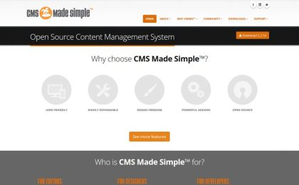 CMS Made Simple Open Source Content Management System