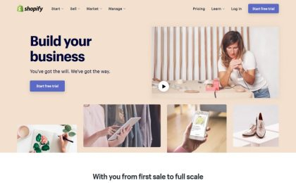 Best ecommerce CMS - Shopify