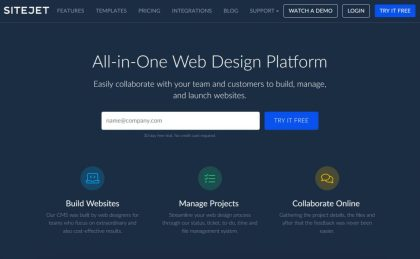 Sitejet all-in-one web design platform