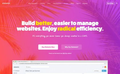 Statamic simple website creator