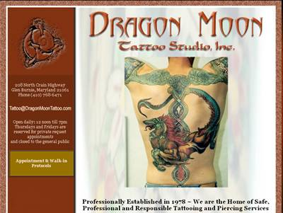Dragon Moon Tattoo customer - business web site hosting services