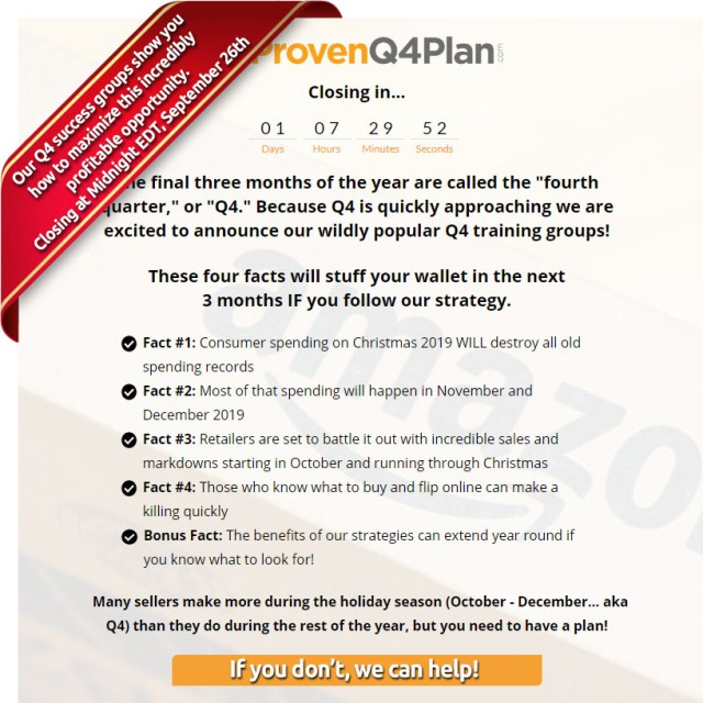 Proven Q4 Plan 2019