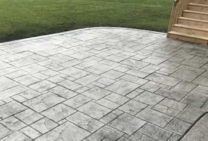 Webb Signature Concrete Grey Stamped Outdoor Patio