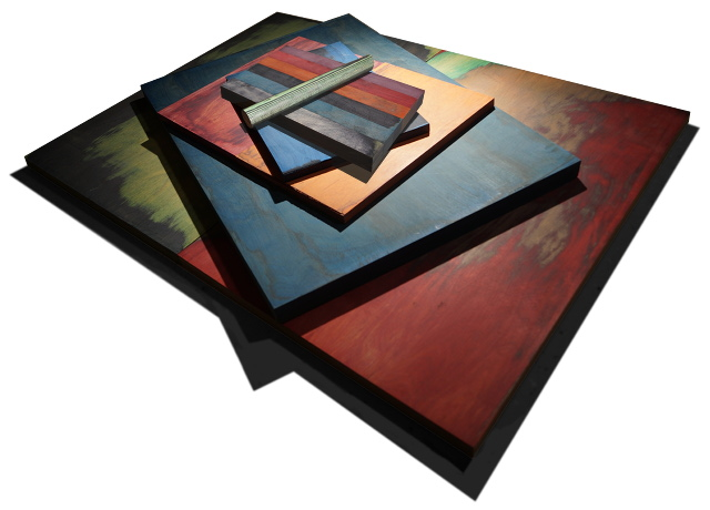 Multi Colored Laminated Wood Blanks