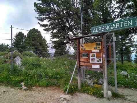 Eingang Alpengarten am Schachen