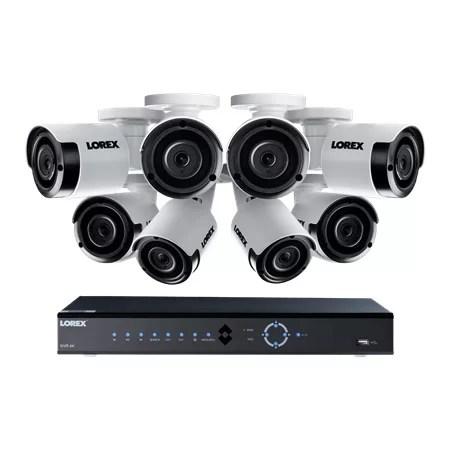 Lorex 16 channel surveillance system with 8pcs 5mp cameras