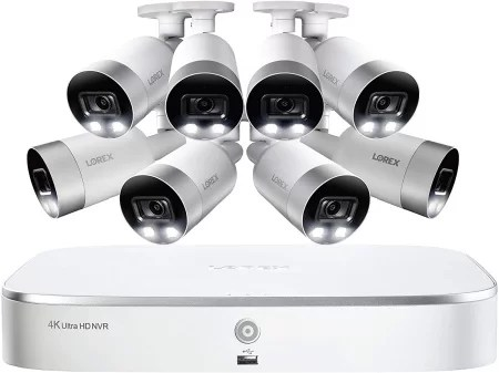 Lorex 8 channel 4k Active Deterrent Camera System kit
