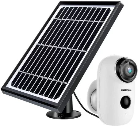 Zumimal wire-free camera with solar panel