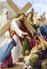 8ª ESTACIÓN: JESÚS CONSUELA A LAS HIJAS DE JERUSALÉN