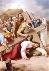 9ª ESTACIÓN: JESÚS CAE POR TERCERA VEZ