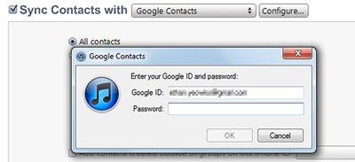 Google ID and Password