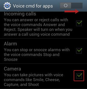 Voice cmd for apps