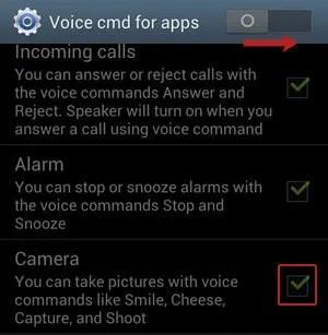 Voice cmd for apps