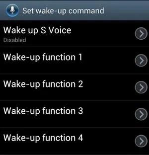 Set Wake Up Command Screen