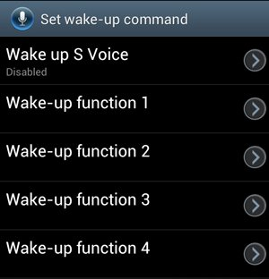 Set Wake Up Command Screen