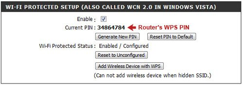 WPS Router Pin
