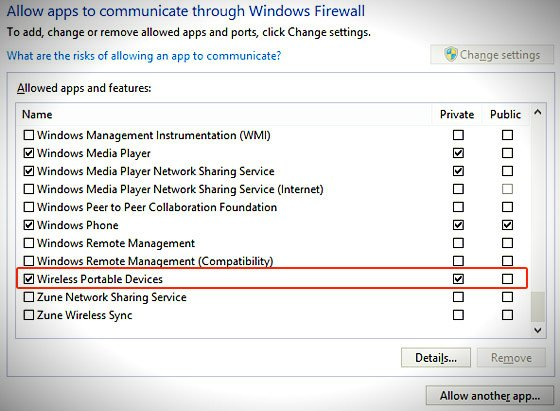 allow apps through windows firewall