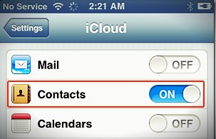 icloud contacts sync on