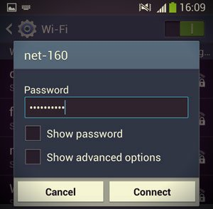 enter password wifi