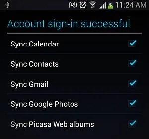 google service selection