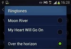 ringtones list