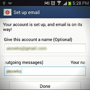 set up email account name
