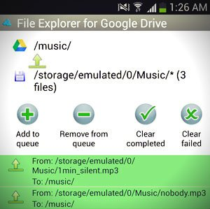 how to upload video to google drive from android
