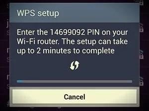 wps setup pin