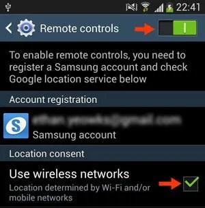 remote controls screen