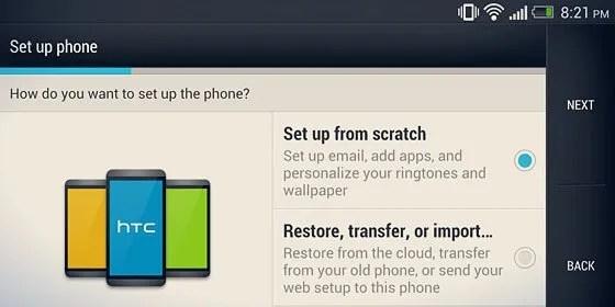 setup phone screen